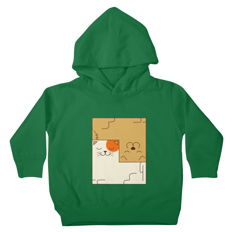 Cat and Dog Kids Toddler Pullover Hoody by coffeeman's Artist Shop