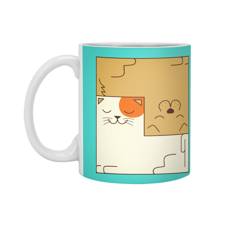 Cat and Dog Accessories Standard Mug by coffeeman's Artist Shop