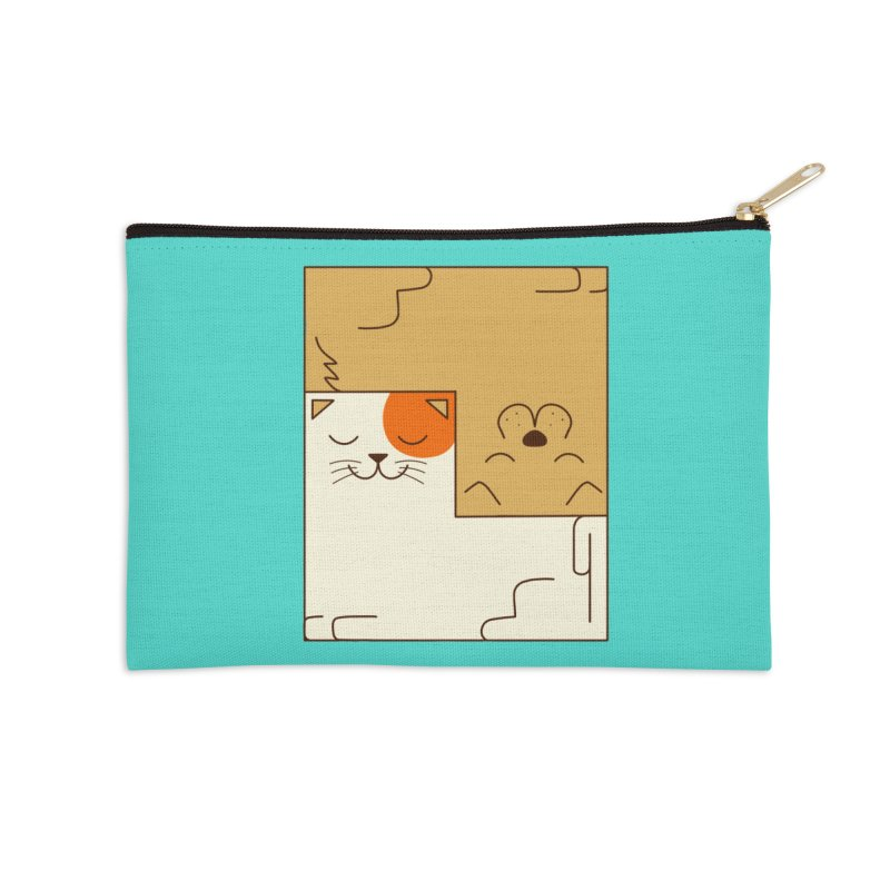 Cat and Dog Accessories Zip Pouch by coffeeman's Artist Shop