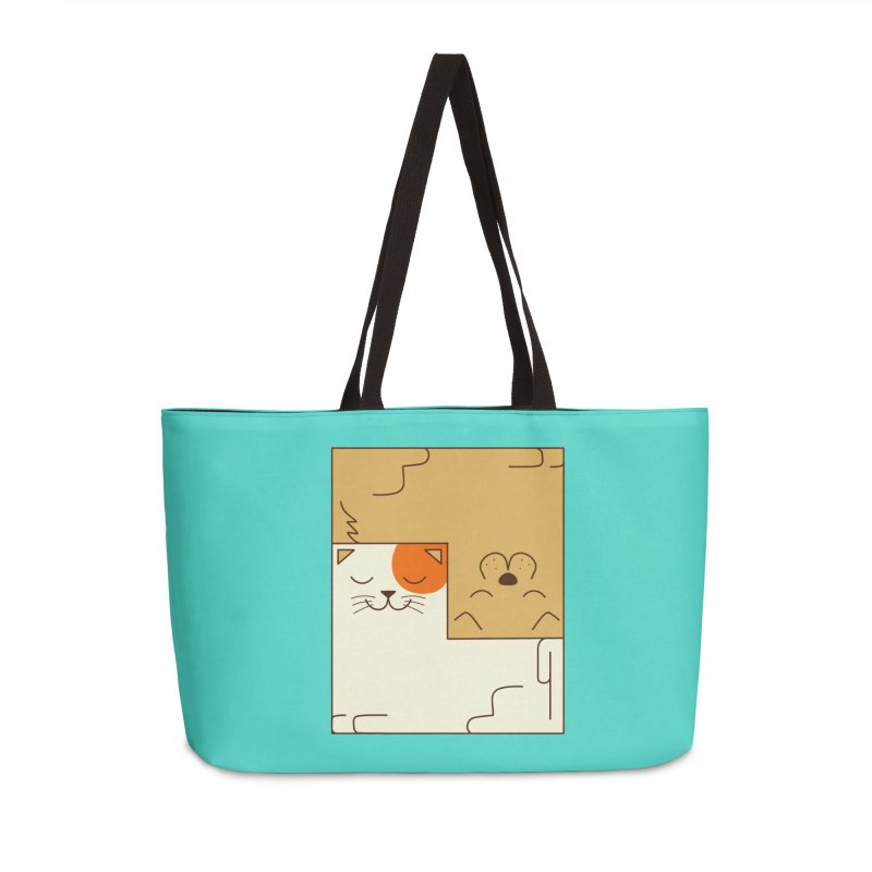 Cat and Dog Accessories Weekender Bag Bag by coffeeman's Artist Shop