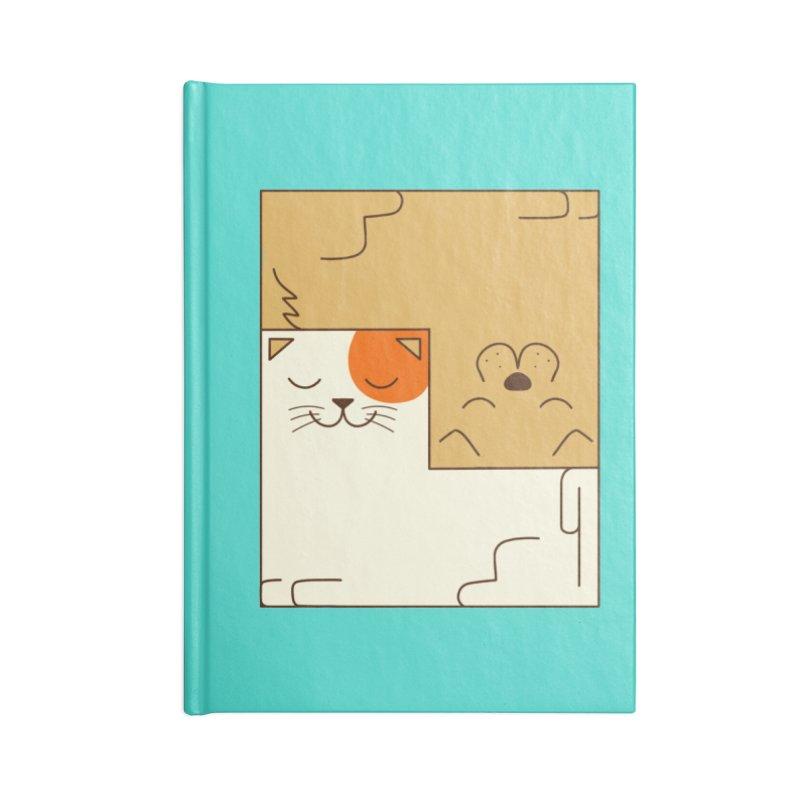 Cat and Dog Accessories Blank Journal Notebook by coffeeman's Artist Shop