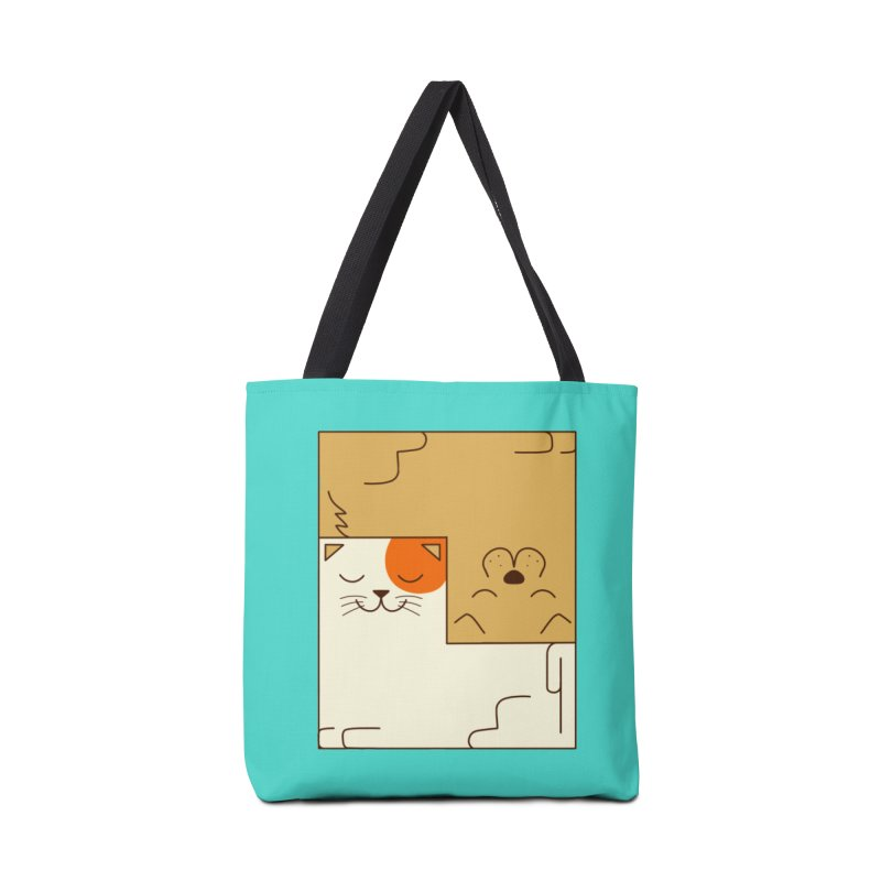 Cat and Dog Accessories Tote Bag Bag by coffeeman's Artist Shop