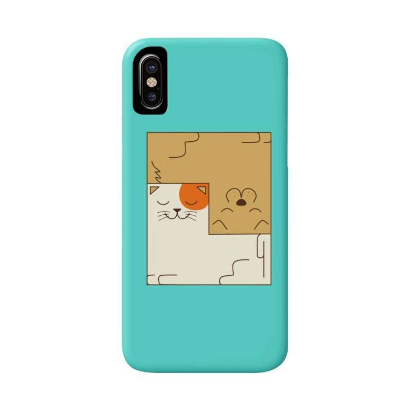 Cat and Dog Accessories Phone Case by coffeeman's Artist Shop