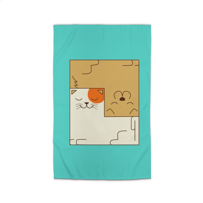 Cat and Dog Home Rug by coffeeman's Artist Shop