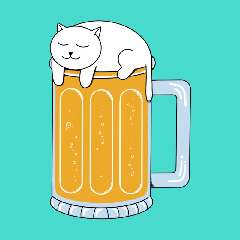Cat beer by coffeeman's Artist Shop