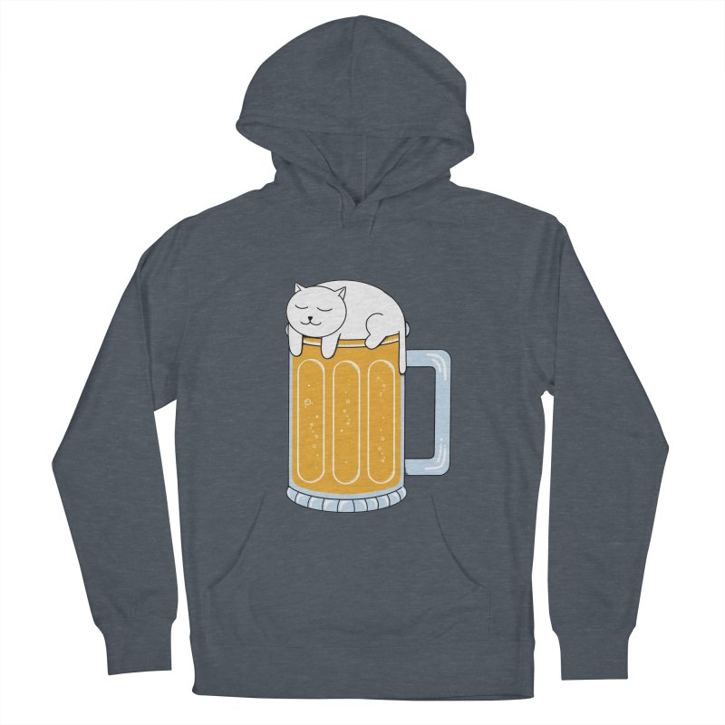 Cat beer Women's French Terry Pullover Hoody by coffeeman's Artist Shop