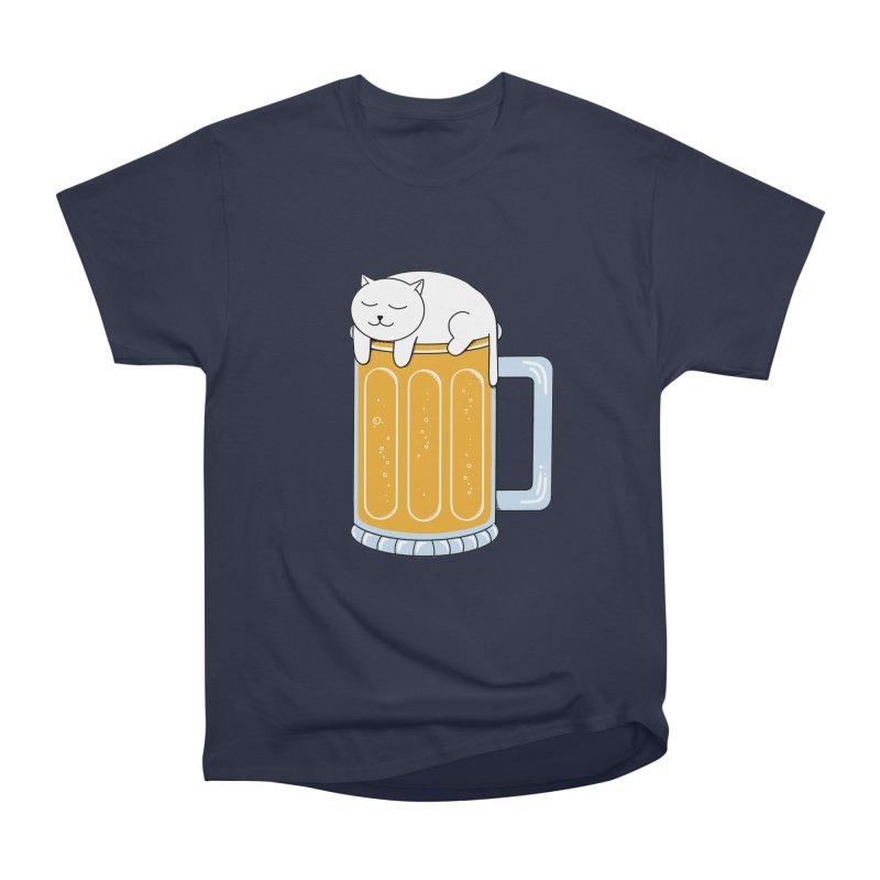 Cat beer Women's Heavyweight Unisex T-Shirt by coffeeman's Artist Shop