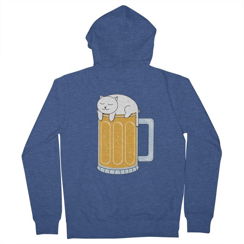 beer Men's French Terry Zip-Up Hoody by coffeeman's Artist Shop