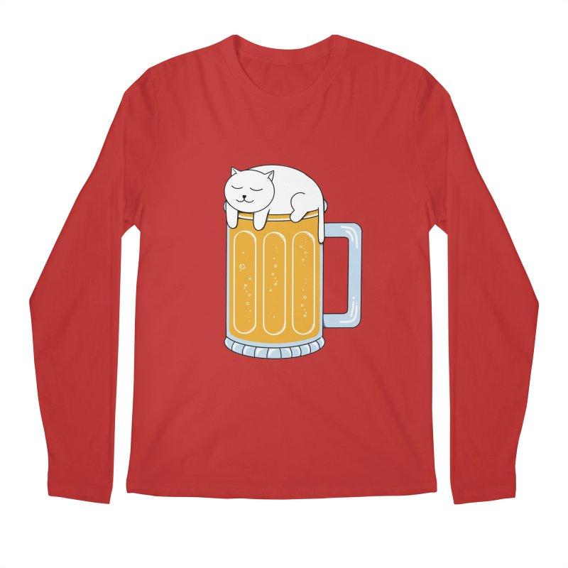 Cat beer Men's Regular Longsleeve T-Shirt by coffeeman's Artist Shop