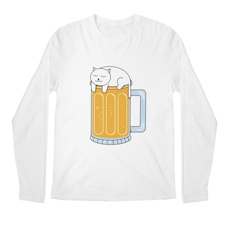 Cat beer Men's Regular Longsleeve T-Shirt by coffeeman's Artist Shop