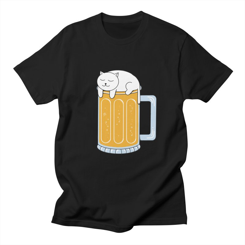 Cat beer Men's Regular T-Shirt by coffeeman's Artist Shop