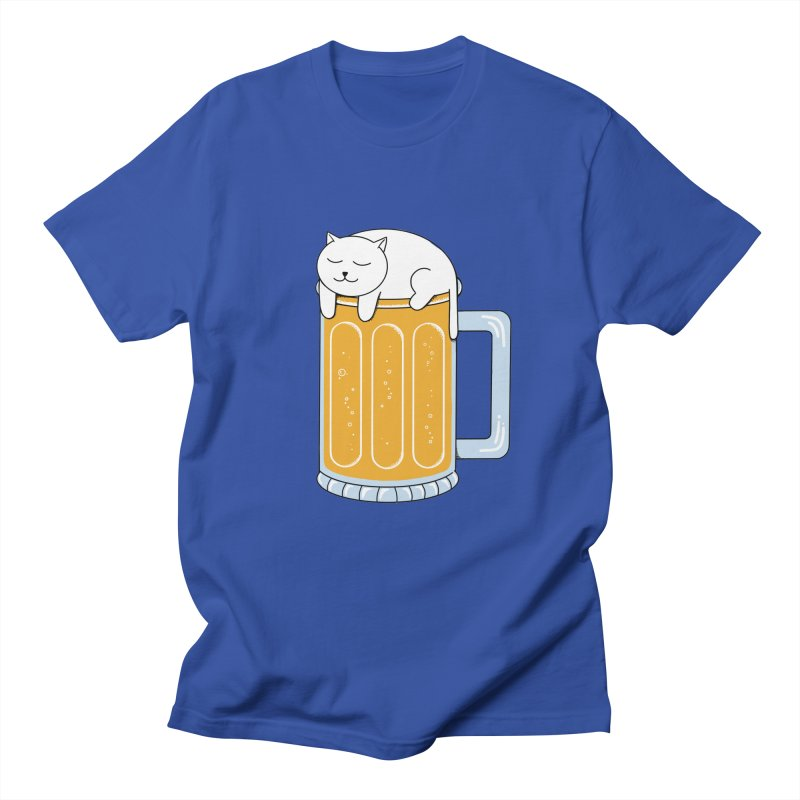 Cat beer Men's Regular T-Shirt by coffeeman's Artist Shop
