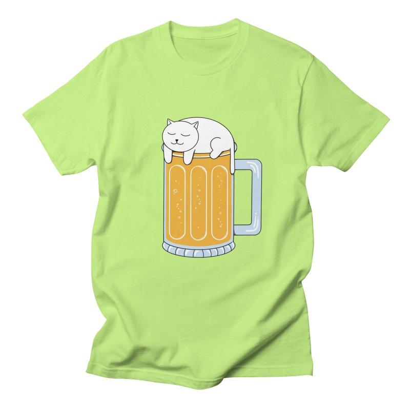 Cat beer Women's Regular Unisex T-Shirt by coffeeman's Artist Shop