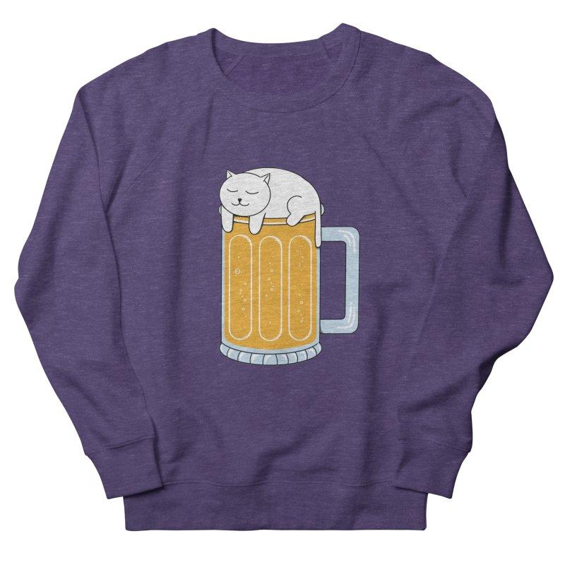 Cat beer Women's French Terry Sweatshirt by coffeeman's Artist Shop
