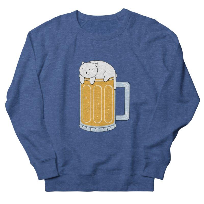 Cat beer Men's French Terry Sweatshirt by coffeeman's Artist Shop