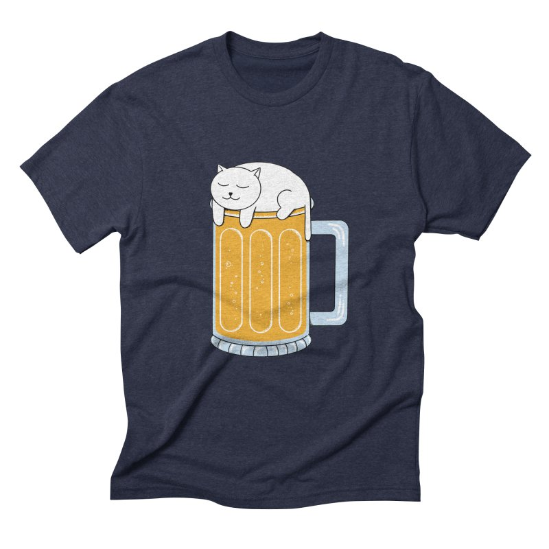 Cat beer Men's Triblend T-Shirt by coffeeman's Artist Shop