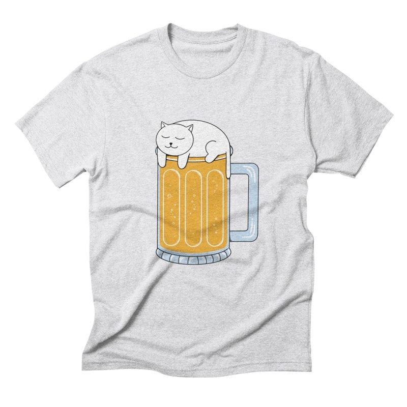 Cat beer Men's Triblend T-Shirt by coffeeman's Artist Shop