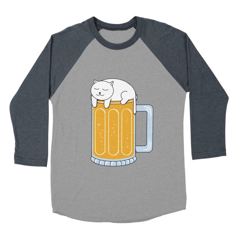 Cat beer Women's Baseball Triblend Longsleeve T-Shirt by coffeeman's Artist Shop