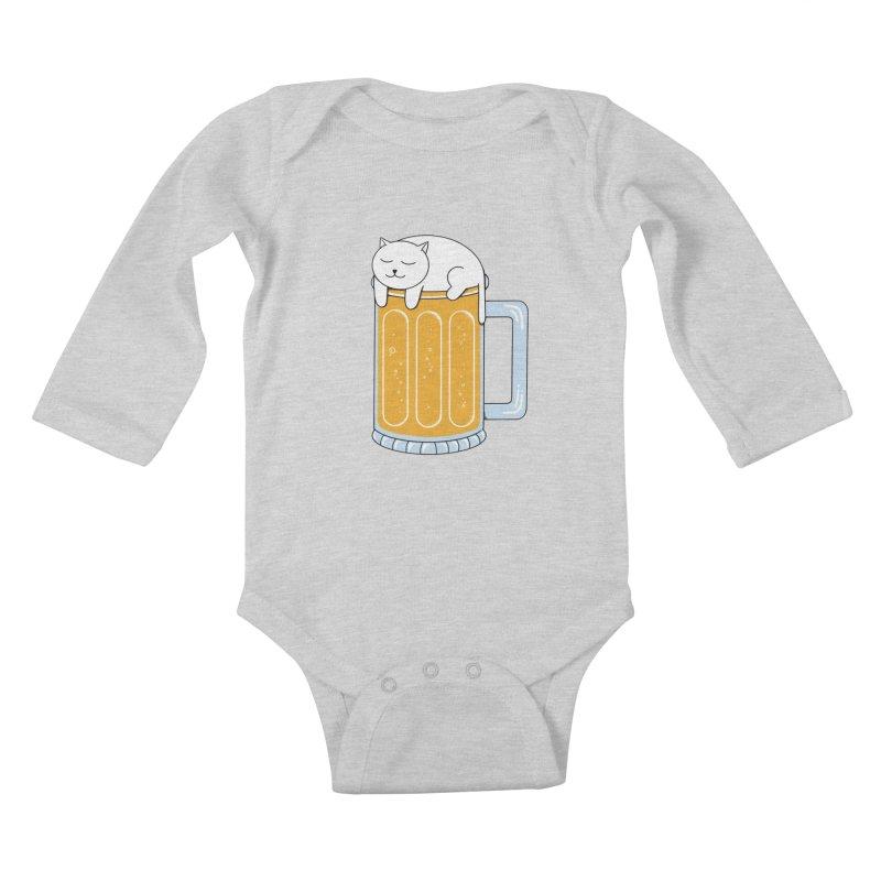 beer Kids Baby Longsleeve Bodysuit by coffeeman's Artist Shop