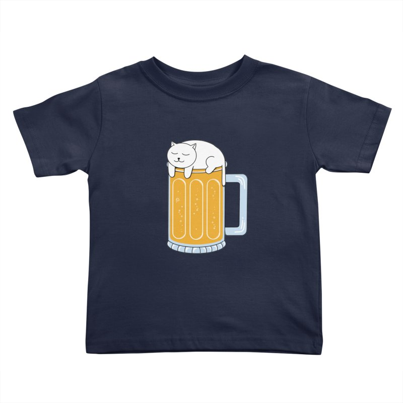 Cat beer Kids Toddler T-Shirt by coffeeman's Artist Shop