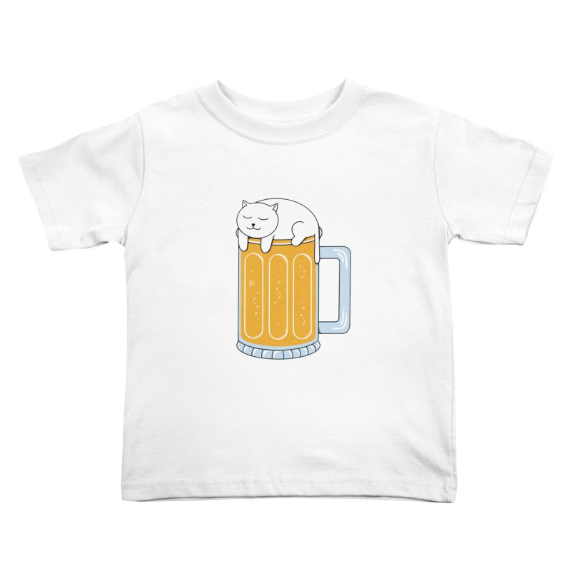 Cat beer Kids Toddler T-Shirt by coffeeman's Artist Shop