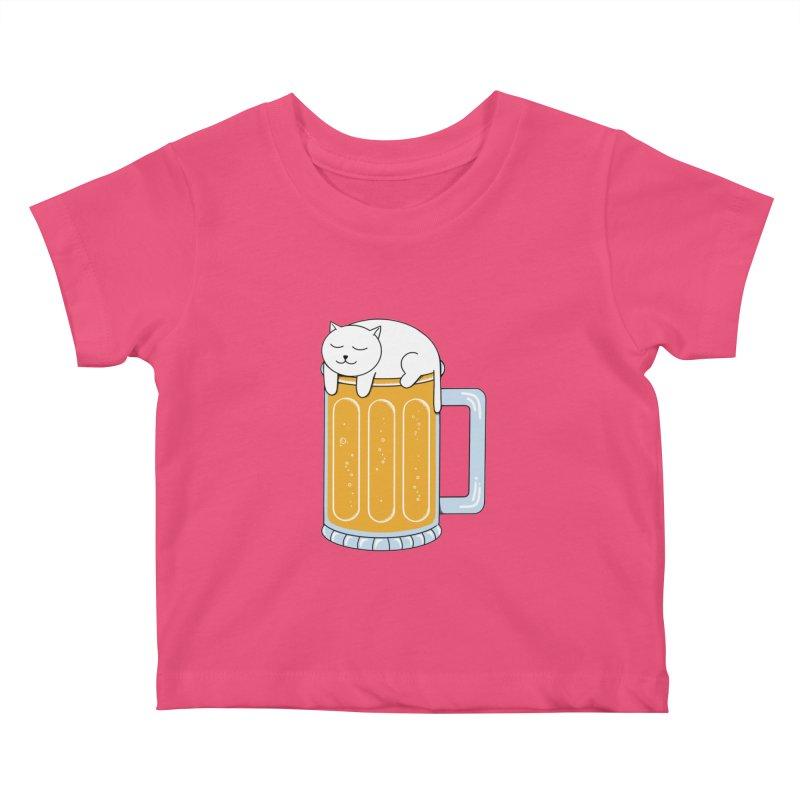 Cat beer Kids Baby T-Shirt by coffeeman's Artist Shop