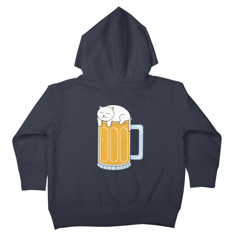 Cat beer Kids Toddler Zip-Up Hoody by coffeeman's Artist Shop