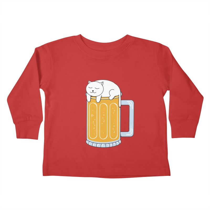 Cat beer Kids Toddler Longsleeve T-Shirt by coffeeman's Artist Shop