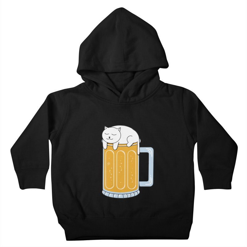Cat beer Kids Toddler Pullover Hoody by coffeeman's Artist Shop