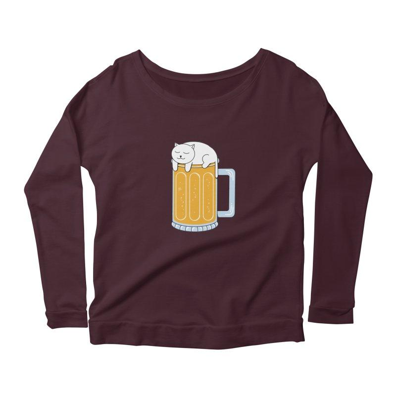 Cat beer Women's Longsleeve T-Shirt by coffeeman's Artist Shop