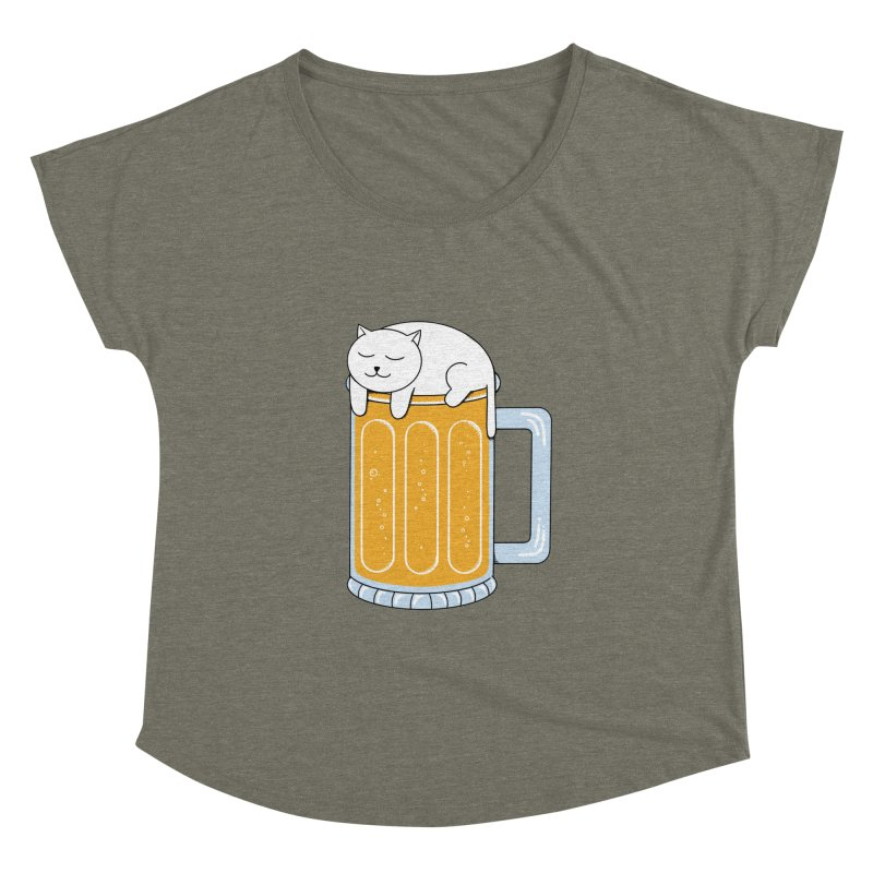 Cat beer Women's Dolman Scoop Neck by coffeeman's Artist Shop