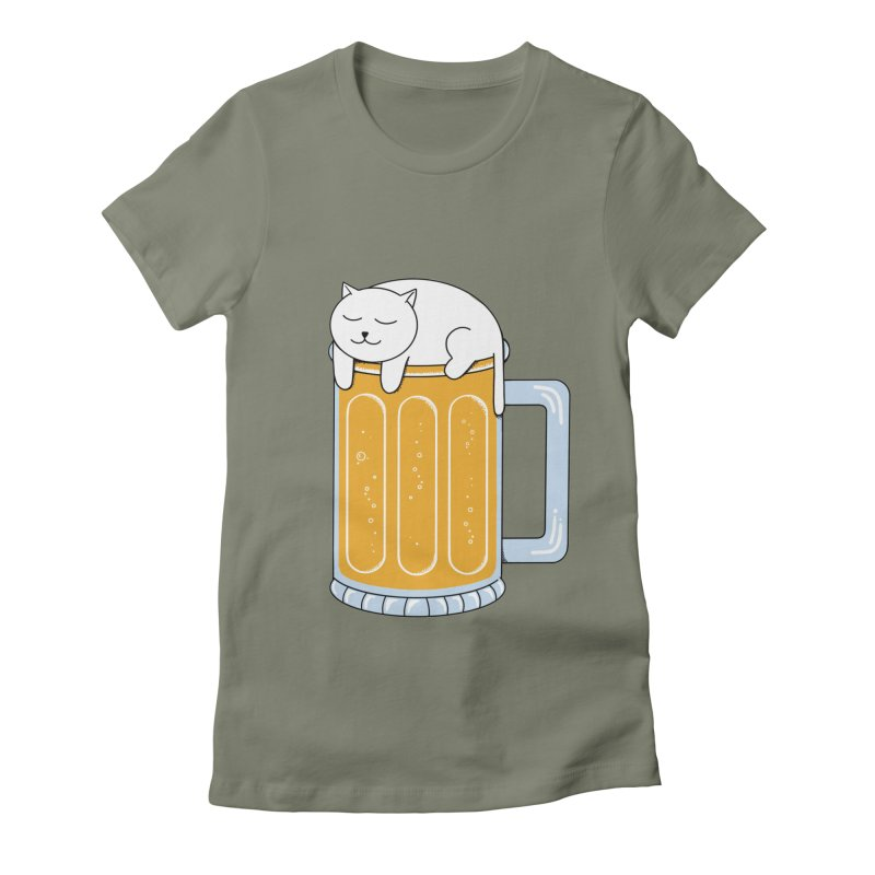 beer Women's Fitted T-Shirt by coffeeman's Artist Shop