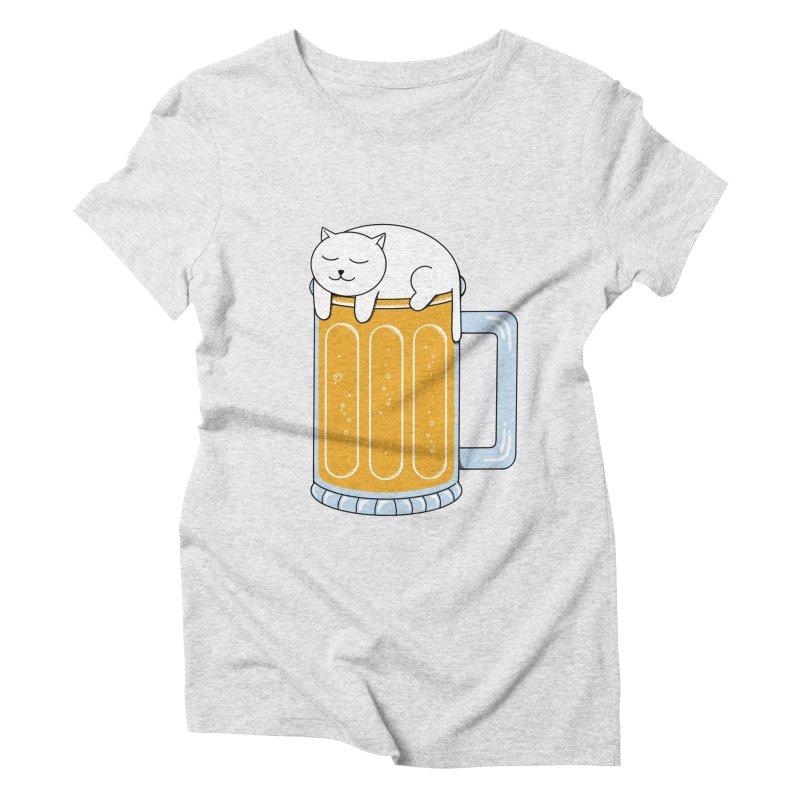 beer Women's Triblend T-Shirt by coffeeman's Artist Shop