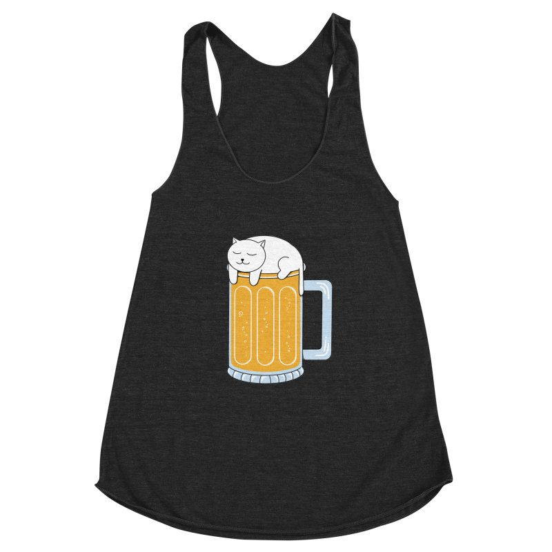 beer Women's Racerback Triblend Tank by coffeeman's Artist Shop