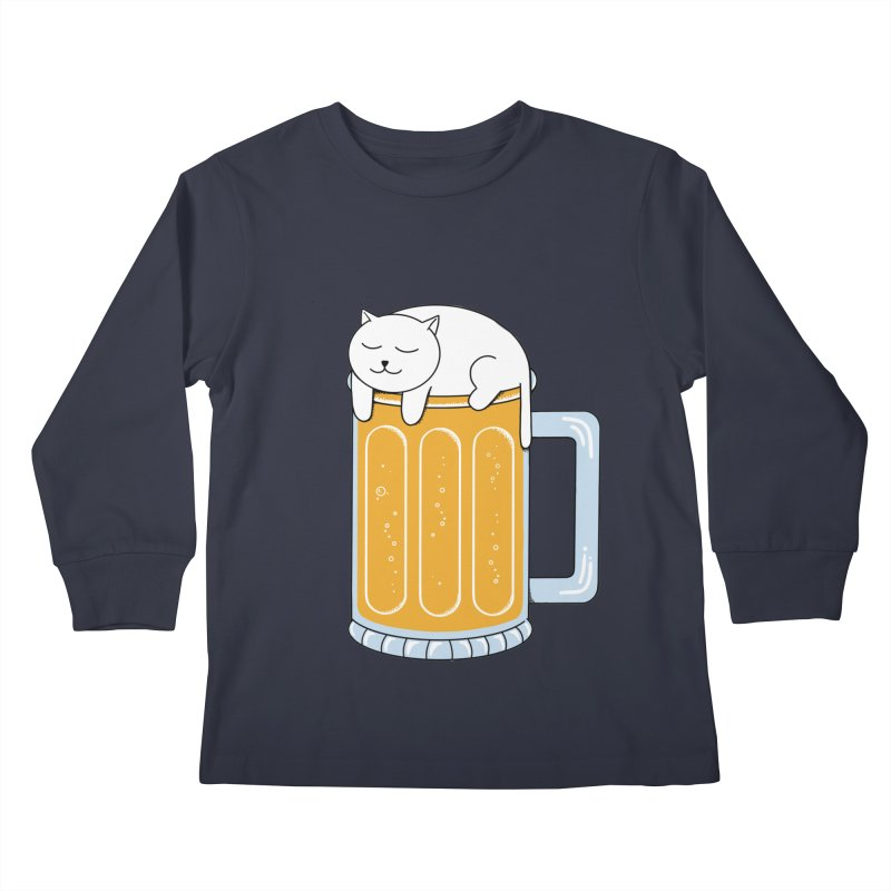 beer Kids Longsleeve T-Shirt by coffeeman's Artist Shop