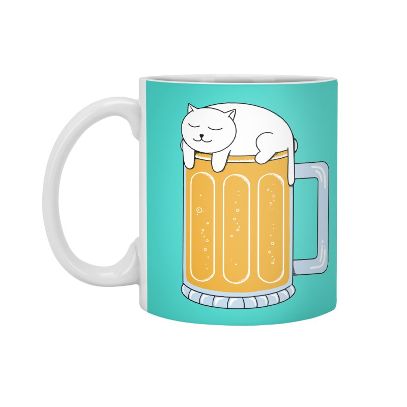 Cat beer Accessories Standard Mug by coffeeman's Artist Shop