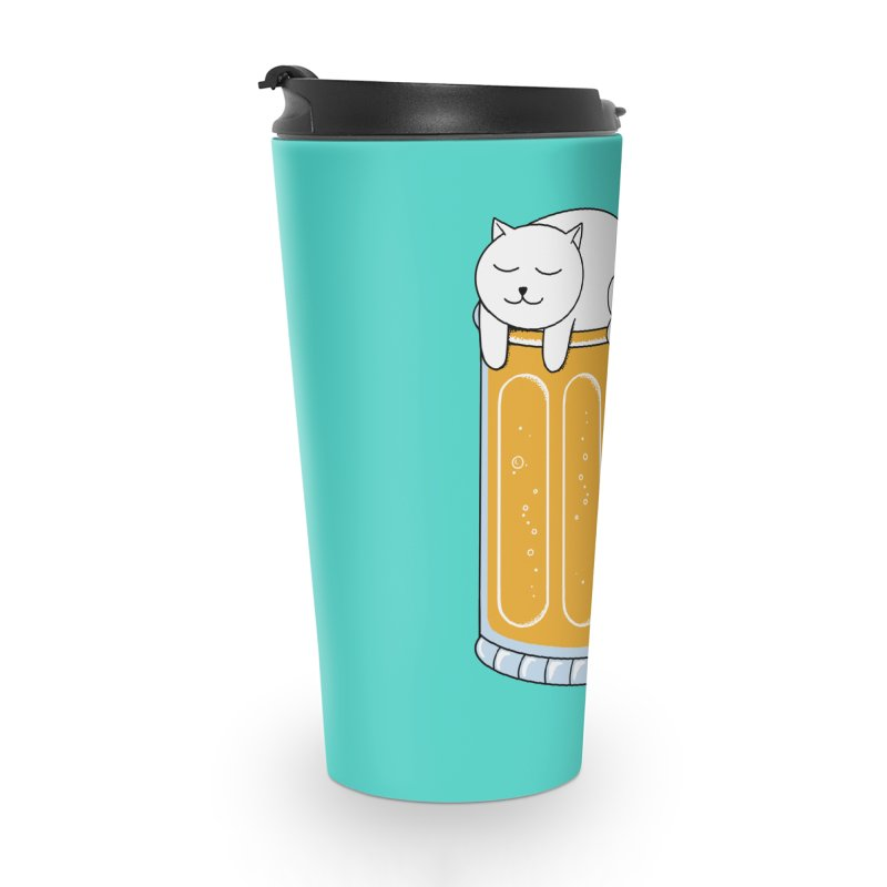 Cat beer Accessories Travel Mug by coffeeman's Artist Shop
