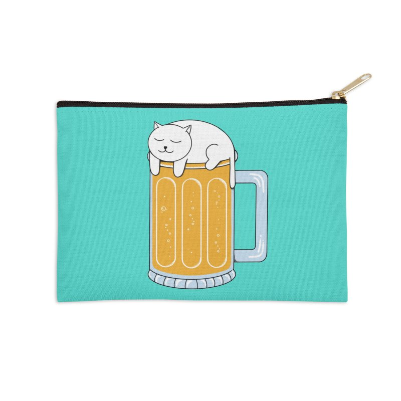 beer Accessories Zip Pouch by coffeeman's Artist Shop