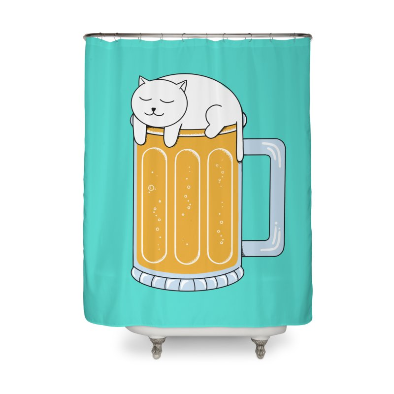 beer Home Shower Curtain by coffeeman's Artist Shop