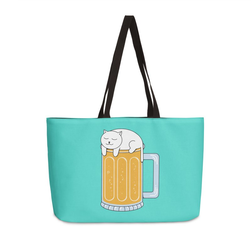 Cat beer Accessories Weekender Bag Bag by coffeeman's Artist Shop