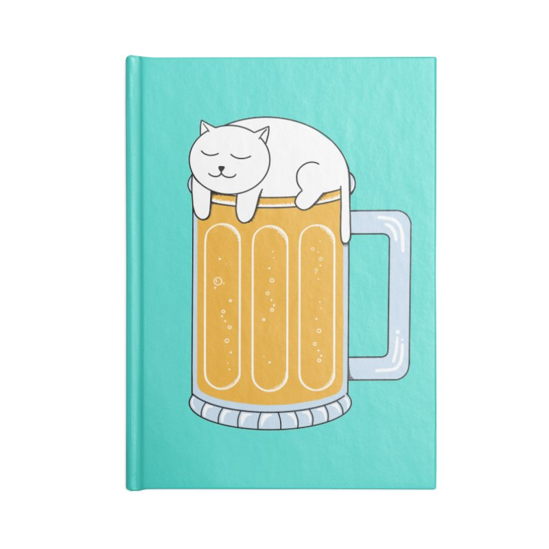 Cat beer Accessories Lined Journal Notebook by coffeeman's Artist Shop