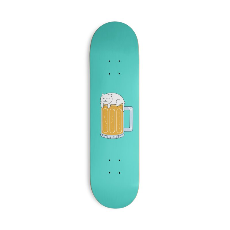 Cat beer Accessories Deck Only Skateboard by coffeeman's Artist Shop
