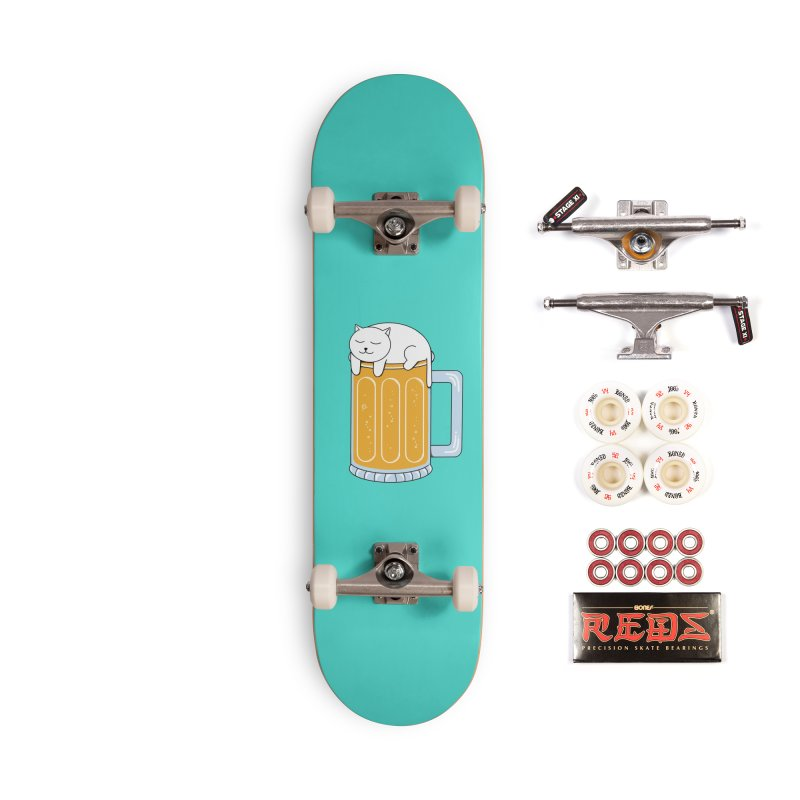 Cat beer Accessories Complete - Pro Skateboard by coffeeman's Artist Shop