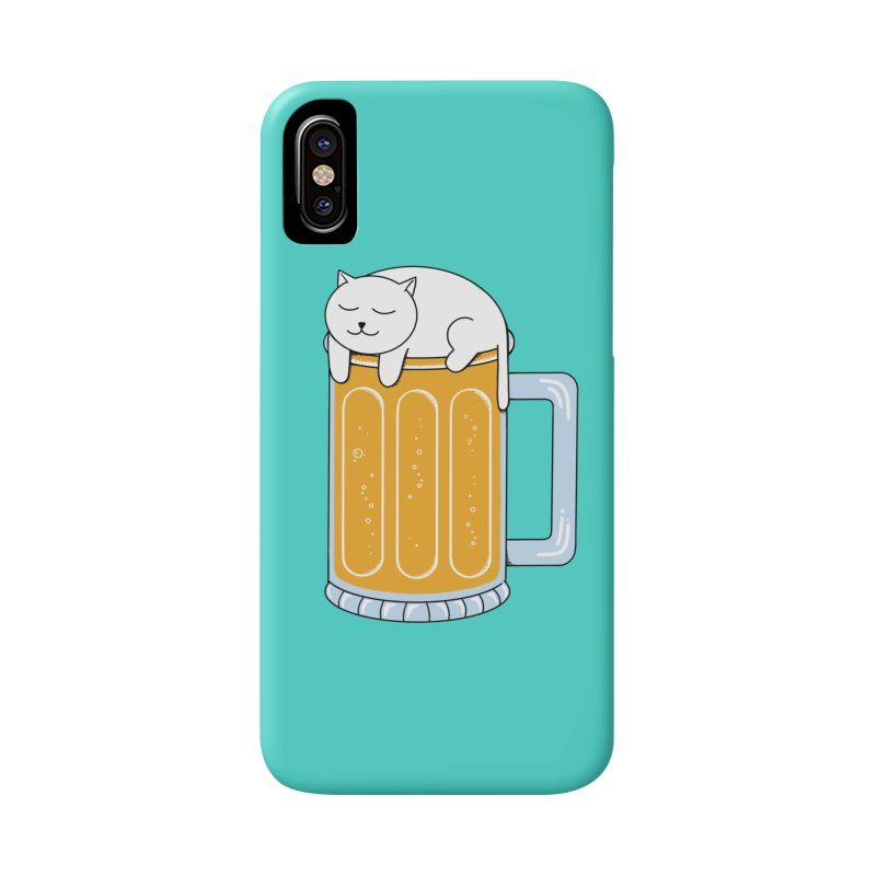 Cat beer Accessories Phone Case by coffeeman's Artist Shop
