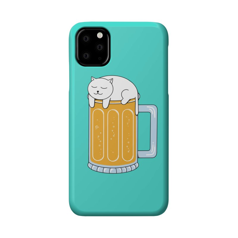 Cat beer Accessories Phone Case by coffeeman's Artist Shop