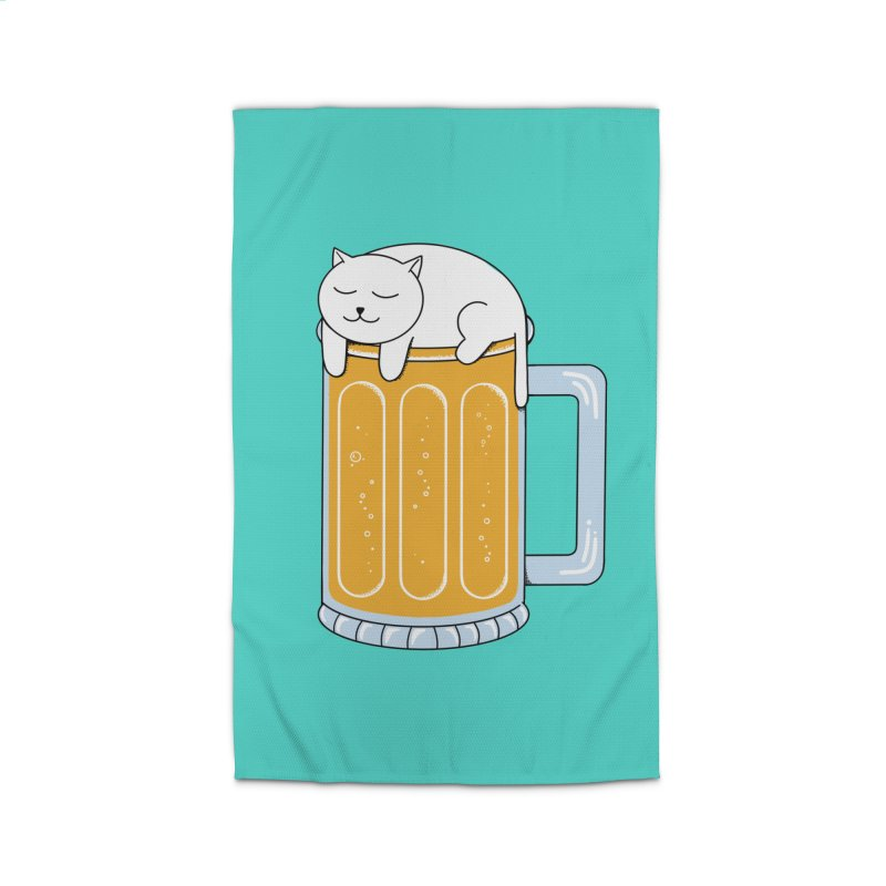 Cat beer Home Rug by coffeeman's Artist Shop
