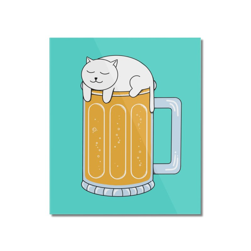 Cat beer Home Mounted Acrylic Print by coffeeman's Artist Shop