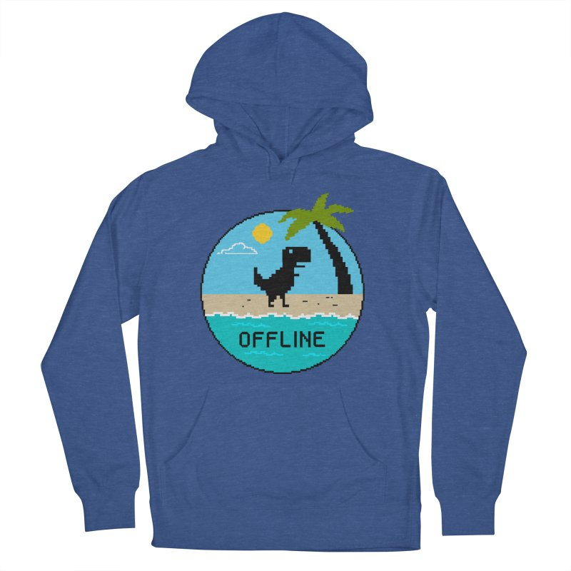 Dinosaur offline Women's French Terry Pullover Hoody by coffeeman's Artist Shop