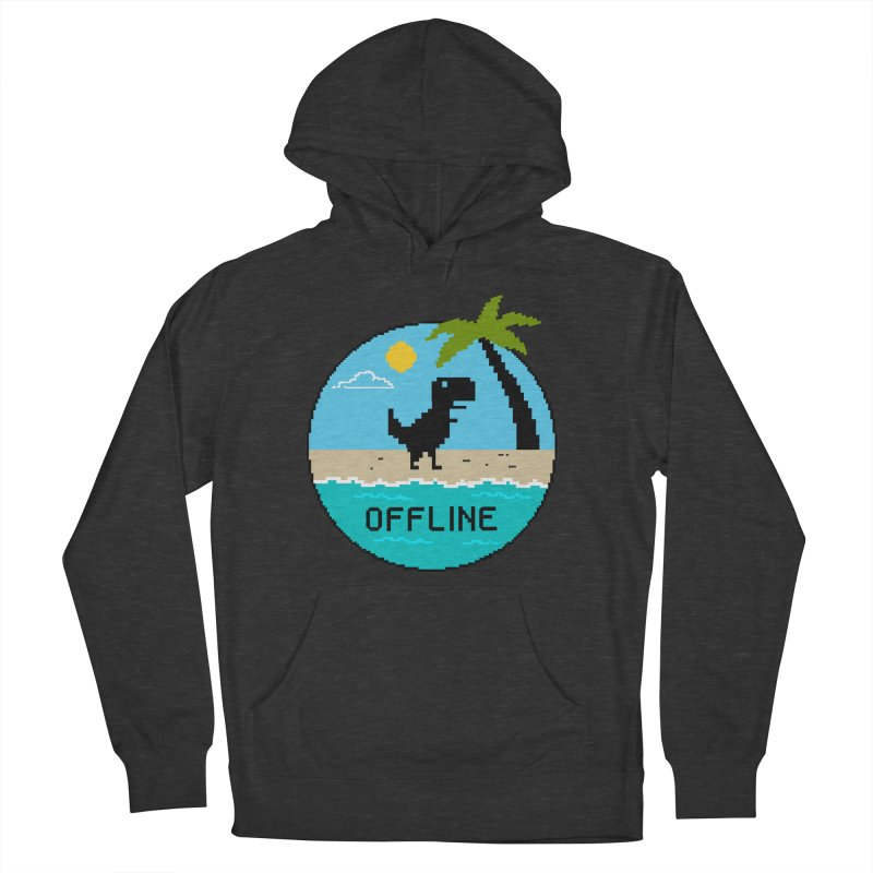 Dinosaur offline Men's French Terry Pullover Hoody by coffeeman's Artist Shop