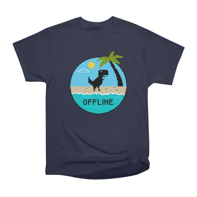 Dinosaur offline Men's Heavyweight T-Shirt by coffeeman's Artist Shop